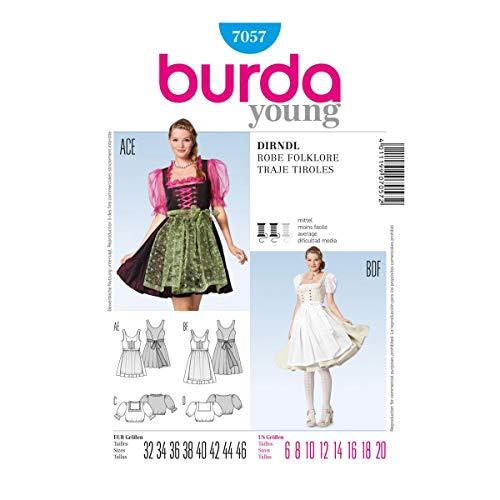 Burda Sewing pattern, 7057 - Folklore Dress, ()