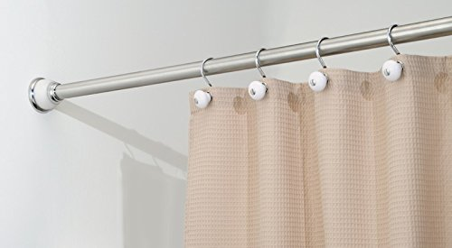 mDesign Constant Tension Bathroom Curtain