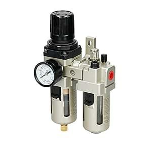 """ECD Germany Filtro separador de agua y aceite para compresor 1/4"""" 10 Bar"""