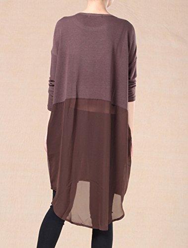 Vogstyle Mujer Suéter Costura Con La Gasa De Varios Colores Sienna