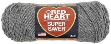 (Red Heart Super Saver Yarn-Grey Heather)
