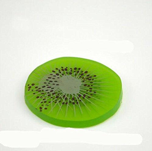 Lytshop Kinderspielzeug Simulation Pfirsich Zitrone Kiwi Erdbeerscheibe Obst Modell Platter Kuchen DIY Zubehör (Kiwi Slice)