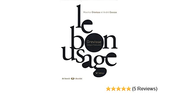 le bon usage grammaire fran?aise free download