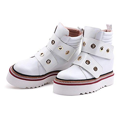 blanco invierno genuina femenino 8071FD mujeres las las piel de incremento Botas Dentro botas Botas Torta En de Blanco 38 e pino femeninas 41 otoño De WHITE del xnPEwx