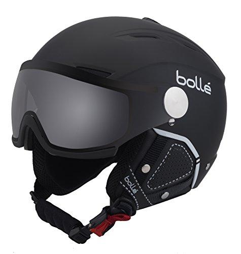 Bolle Backline Visor Premium with 1 Photochromic Silver Visor Ski Helmet, Soft Black/White, 59-61cm