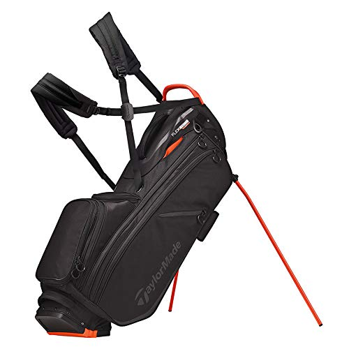 TaylorMade 2020 Flextech Crossover Stand Golf Bag, Black/Blood Orange