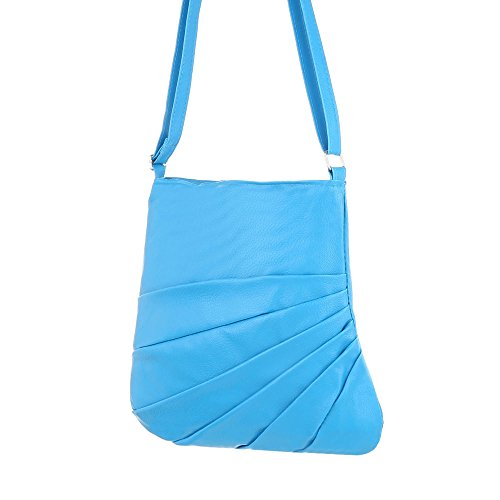 Ital-Design - Bolso al hombro de Material Sintético para mujer azul claro