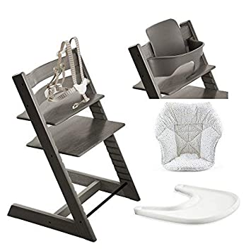 Amazon.com: Stokke silla alta, brumosa gris Bundle con Mini ...