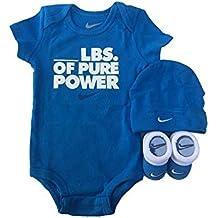 Nike Infant Babys 3-Piece Bodysuit, Hat & Booties Set