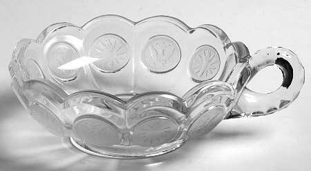 Fostoria Coin Glass Clear One Handled Nappy Bowl