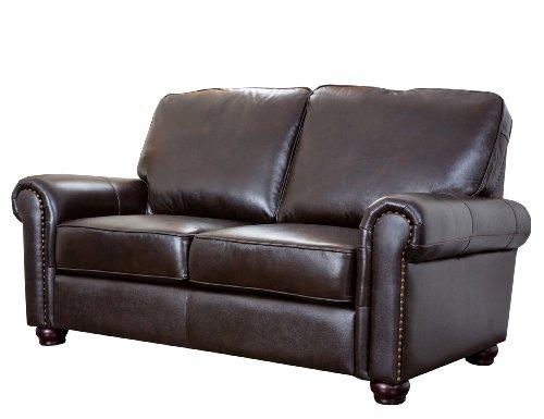Abbyson Living Wilshire Italian Leather Loveseat (Italian Leather Seat)