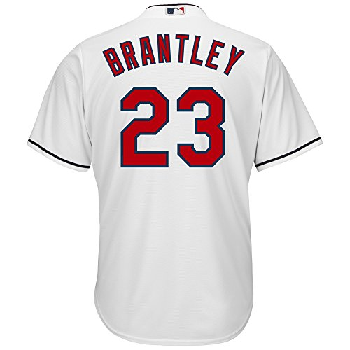 Michael Brantley Cleveland Indians White Youth Majestic Cool Base Home Replica Jersey (Medium 10/12)