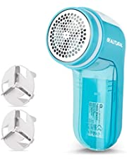 BEAUTURAL Fabric Shaver Defuzzer, Electric Lint Remover, Sweater Shaver with 2 Replaceable Stainless Steel Blades, 2-Speeds, Battery Operated, Remove Clothes Fuzz, Lint Balls, Pills, Bobbles