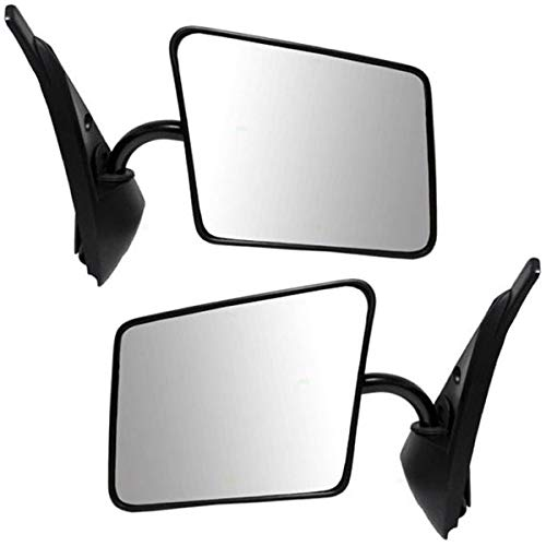 Chevy S10 Blazer S15 Pickup Truck Black Manual Mirror Left & Right Side SET PAIR -