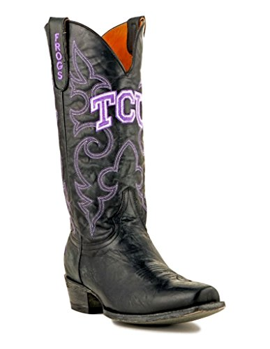 NCAA TCU Horned Frogs Men's Board Room Style Boots, Black, 13 D (M) ()