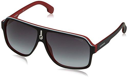 Carrera Men's Ca1001s Aviator Sunglasses, Matte Black Red/Dark Gray Gradiet, 62 - And Sunglasses Carrera Black Red