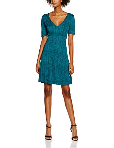 French Vestido Check Texture Mujer Para Teal Black Multicoloured night Connection rw4tqFvr