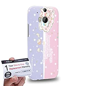 Case88 [HTC One M8] 3D impresa Carcasa/Funda dura para & Tarjeta de garantía - Little Twin Star Kiki And Lala Dreamy Diary 1335