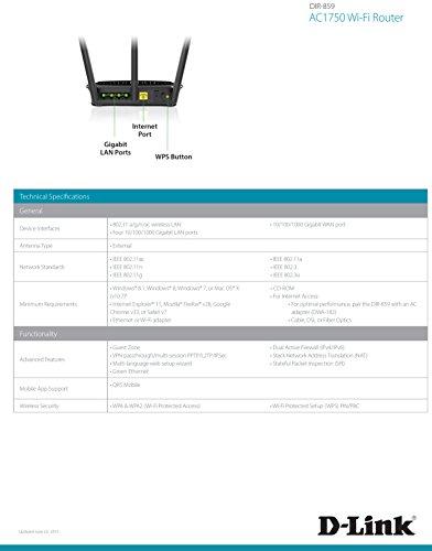 D-Link Systems AC1750 High Power Wi-Fi Gigabit Router (DIR-859)