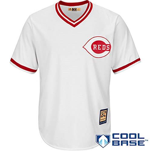 Cincinnati Reds Youth Cooperstown Pullover Home Jersey White (Youth Medium 10/12)
