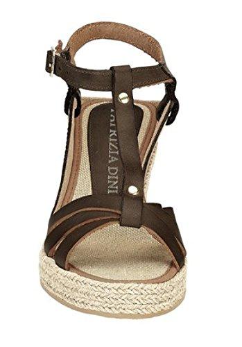 Patrizia Dini Sandalette - Sandalias de vestir de cuero para mujer marrón - marrón oscuro