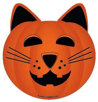 Cat Jack O'Lantern Pumpkin Halloween cat head magnet ()