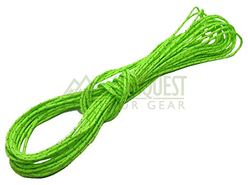 Conquest Outdoor Gear Ultra Light - 2mm Dyneema Reflective Tent Guy Guide Rope - 200kg Breaking Strain - Lengths in Meters - Suitable for sailing, dinghy, yachting, cruising, racing, kite surfing (5) ()