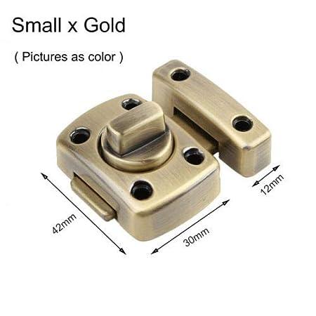 dorado 42 x 30 x 12 mm, 52 x 38 x 15 mm, 54 x 40 x 13 mm, tama/ño grande y peque/ño Cerrojo para puerta Supertool color plateado y rojo y dorado