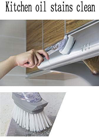 XWSQ Dispensador de jabón Cepillo de Limpieza Esponja Cepillo Utilizado para Cocina Fregadero Olla Platos Ollas Fregadero Herramienta de Limpieza: Amazon.es: Hogar