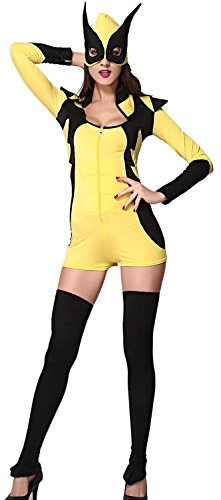 [IF FEEL Women's Sexy Skeleton Halloween Costume Role Play Cosplay Sets (One Size, LC8734)] (Kill Bill Costume Ideas)