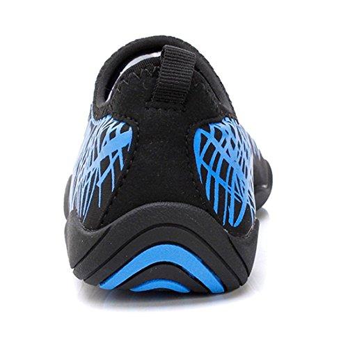 Smapavic Wasser Schuhe Für Frauen Männer Aqua Socken Barfuß Quick Dry Leichte Strand Schwimmen Schuhe Blau