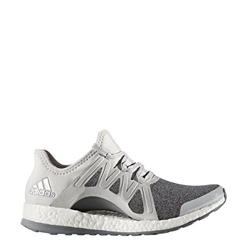adidas Performance Women's Pureboost Xpose Running Shoe, Clear/Grey/Metallic/Silver/Mid Grey, 5.5 M US
