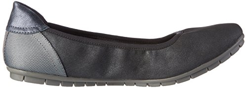 s 22119 Metallic Navy Women's Blue ballerinas Oliver Closed r7nwaUrq