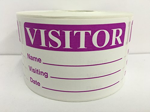 500 Labels PURPLE 2x3 Visitor Name Tag Date Badge Tag Identification ID Stickers
