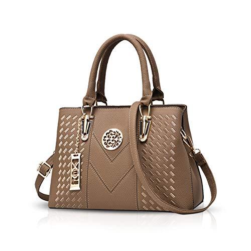 NICOLE & DORIS Damenhandtaschen Handtaschen Topgriffe Schultertasche Umhängetaschen Klassische Handtaschen von Frauen Khaki
