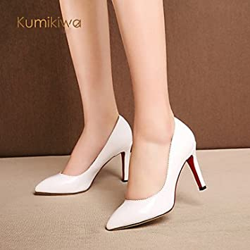 fb77cda5d913 Kumikiwa patent leather women shoes office high heels 2015 fashion red and  white women pumps K15CN1239