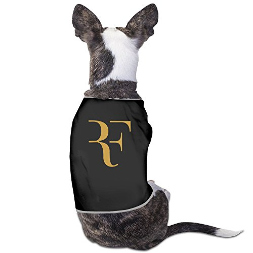 GDFEH Roger Federer Logo Daily Pet Dog Clothes T-shirt Coat Pet Apparel Costumes New Black L (Cute Easy Costumes)