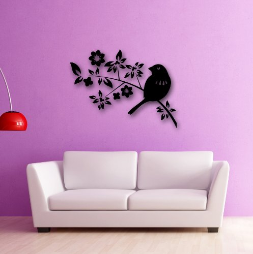 Cheap  Wall Stickers Vinyl Decal Beautiful Bird Tree Branch Great Decor (i125)