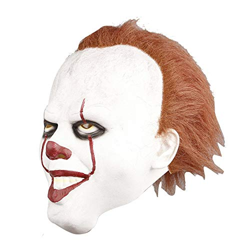 Clown Mask, Cosplay Scary Costume Halloween Mask Movie Stephen King's -