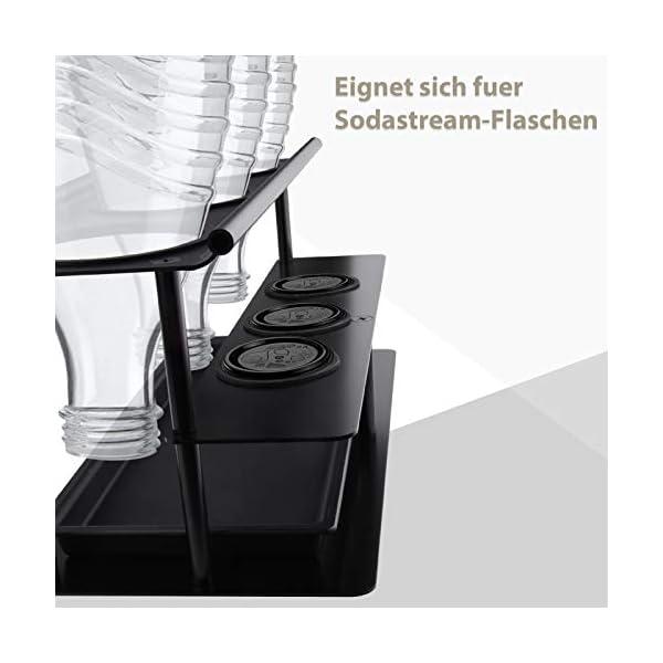 41C TQ8tPZL 3er Flaschenhalter Abtropfständer für Sodastream Emil Flaschen, Abnehmbarer Flaschenständer aus Aluminiumlegierung mit…