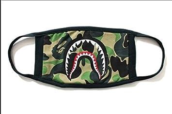 2de8f2d5 Image Unavailable. Image not available for. Colour: Fashion A Bathing Ape  Bape Shark Black Face Mask ...