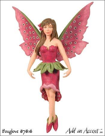 ~ Foxglove ~Amy Brown WILDFLOWER Fairy Diva Figurine Orna...