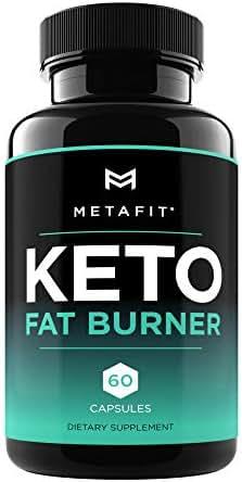 Keto Fat Burner Pills for Weight Loss - 60 Keto Burn Capsules - Ketosis Diet Supplement for Women & Men by METAFIT