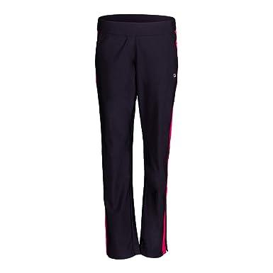 bdf505b2e4d1f Fila Women's Sleek Streak Pants, Black, Ruby Rose, M at Amazon Women's  Clothing store: