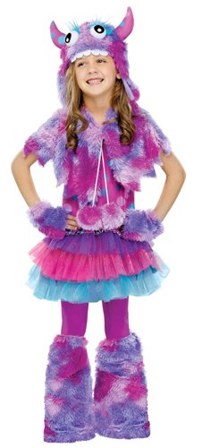 Fun World Polkadot Monster Costume, Multicolor, Small (Cool Character Costumes)