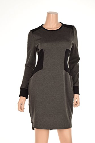 Rachel Roy Women's Colorblock Zipper Detail Dress Large Charcoal Heather Grey (Rachel Roy Clothing compare prices)