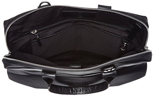 Royal Republiq New Courier - Borse a spalla Unisex Adulto, Schwarz (Black), 4x40x35 cm (B x H T)