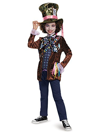 Mad Hatter Classic Alice Through The Looking Glass Movie Disney Costume, Medium/7-8 -