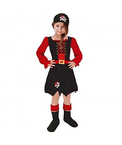 Disfraz Pirata niña infantil para Carnaval (2-4 años)