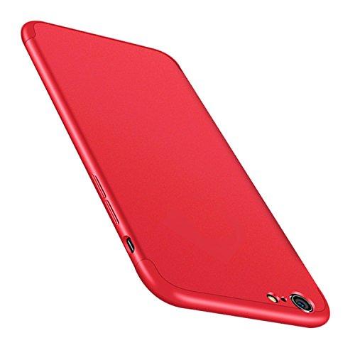 "Coque iPhone 8 JEPER? 360 Protection Intgrale Etui PC 3 en 1 Ultra Mince Anti-Choc Anti-Scratch Housse pour Telephone Apple iPhone 7 Case 4.7"" Rouge"
